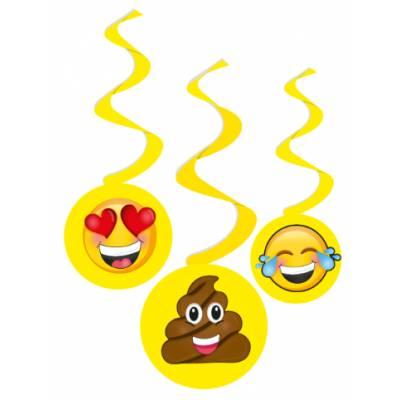 Festón emoji x3 unid