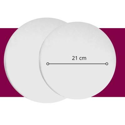 Pastelería - Base Circular 21 cm - 1/4 Lb - Paq x 10 unid